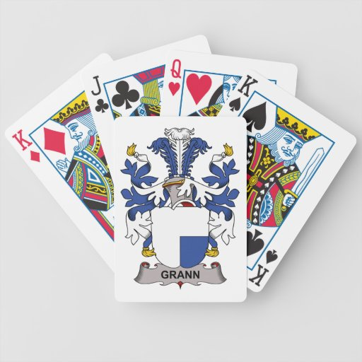 Escudo de la familia de Grann Baraja Cartas De Poker