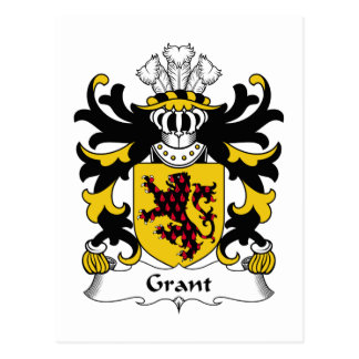 Escudo de la familia de Grant Tarjeta Postal