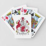 Escudo de la familia de Grantham Baraja Cartas De Poker