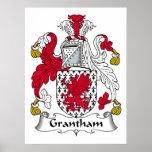 Escudo de la familia de Grantham Posters