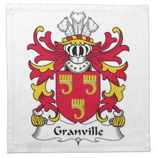 Escudo de la familia de Granville Servilleta