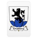 Escudo de la familia de Grasburg Imanes De Vinilo