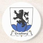 Escudo de la familia de Grasburg Posavasos Personalizados