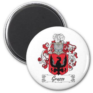 Escudo de la familia de Grasso Imán Redondo 5 Cm