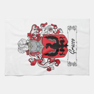 Escudo de la familia de Grasso Toallas De Mano