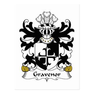 Escudo de la familia de Gravenor Tarjetas Postales