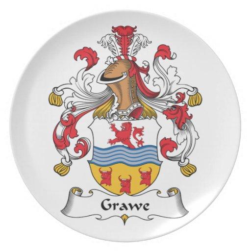 Escudo de la familia de Grawe Platos De Comidas