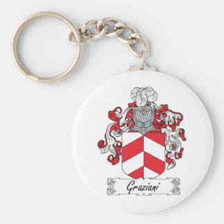 Escudo de la familia de Graziani Llavero Redondo Tipo Pin