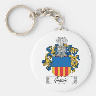 Escudo de la familia de Grazzini Llavero Redondo Tipo Pin