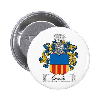 Escudo de la familia de Grazzini Pin Redondo 5 Cm