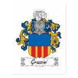 Escudo de la familia de Grazzini Tarjetas Postales