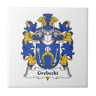 Escudo de la familia de Grebecki Azulejo Ceramica