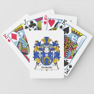 Escudo de la familia de Grebecki Baraja Cartas De Poker