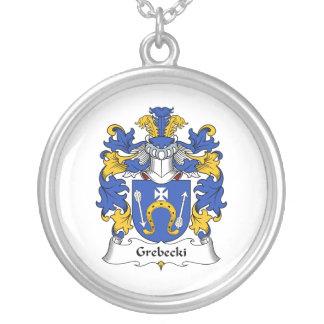 Escudo de la familia de Grebecki Pendiente Personalizado