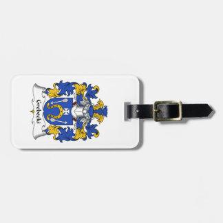 Escudo de la familia de Grebecki Etiquetas Maleta