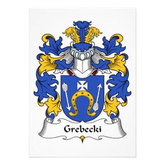 Escudo de la familia de Grebecki Invitaciones Personalizada