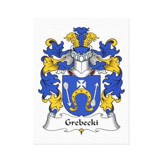 Escudo de la familia de Grebecki Lona Envuelta Para Galerias