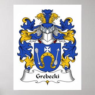 Escudo de la familia de Grebecki Poster