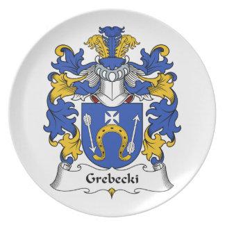 Escudo de la familia de Grebecki Plato De Comida