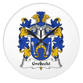 Escudo de la familia de Grebecki Relojes De Pared