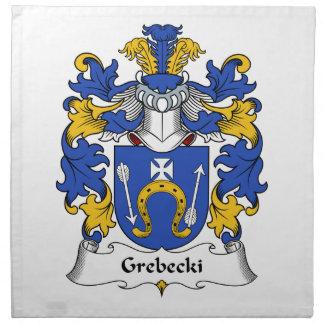Escudo de la familia de Grebecki Servilletas Imprimidas