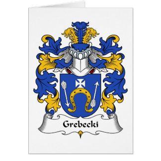Escudo de la familia de Grebecki Tarjeta De Felicitación