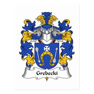 Escudo de la familia de Grebecki Tarjeta Postal