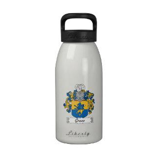 Escudo de la familia de Greco Botellas De Beber