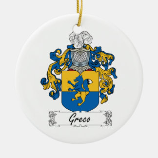 Escudo de la familia de Greco Ornamento De Reyes Magos