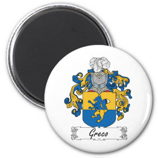 Escudo de la familia de Greco Imán Redondo 5 Cm