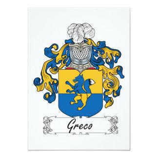Escudo de la familia de Greco Invitacion Personalizada