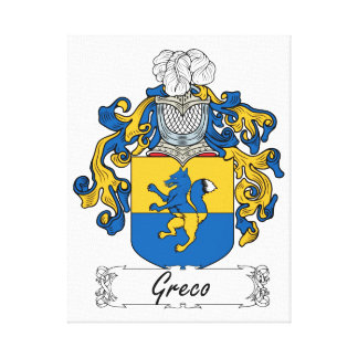 Escudo de la familia de Greco Lienzo Envuelto Para Galerías