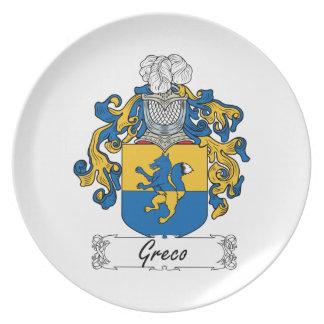 Escudo de la familia de Greco Plato