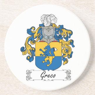 Escudo de la familia de Greco Posavasos Cerveza