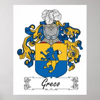Escudo de la familia de Greco Posters