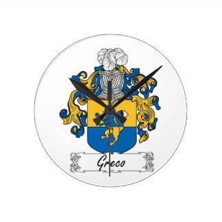 Escudo de la familia de Greco Reloj