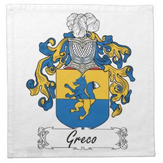 Escudo de la familia de Greco Servilleta
