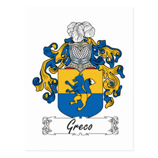 Escudo de la familia de Greco Tarjetas Postales