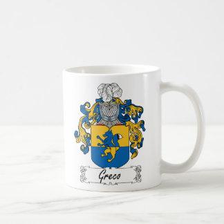 Escudo de la familia de Greco Tazas De Café