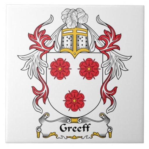 Escudo de la familia de Greeff Azulejo Cerámica