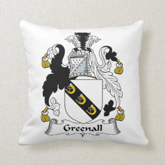 Escudo de la familia de Greenall Almohadas