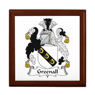 Escudo de la familia de Greenall Caja De Joyas