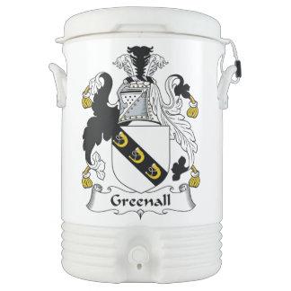 Escudo de la familia de Greenall Enfriador De Bebida Igloo