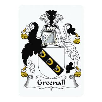 Escudo de la familia de Greenall Invitación 12,7 X 17,8 Cm