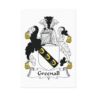 Escudo de la familia de Greenall Impresiones De Lienzo