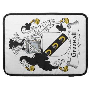 Escudo de la familia de Greenall Fundas Para Macbook Pro