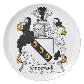 Escudo de la familia de Greenall Plato