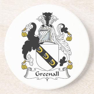 Escudo de la familia de Greenall Posavasos Diseño