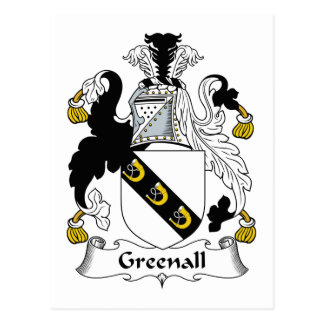 Escudo de la familia de Greenall Postal