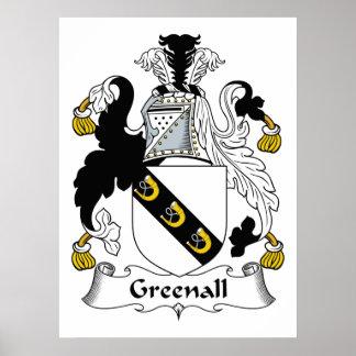 Escudo de la familia de Greenall Posters